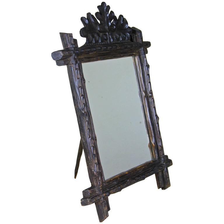 Tramp Art Table Mirror, Austria, circa 1890