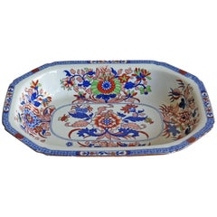 Late Georgian Spode Serving Dish Ironstone Chinoiserie Pattern 2054, Circa 1820