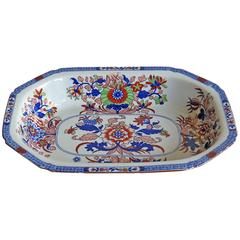 Late Georgian Spode Serving Dish Ironstone Chinoiserie Pattern 2054, Ca 1820