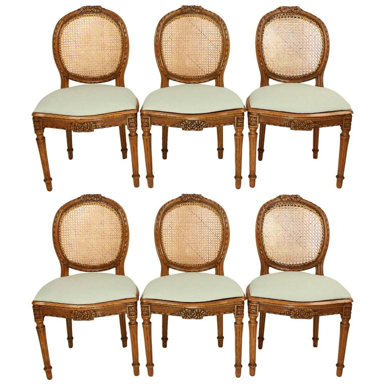 Set of Six Louis XVI Dining Chairs in the Manner of Georges Jacob
