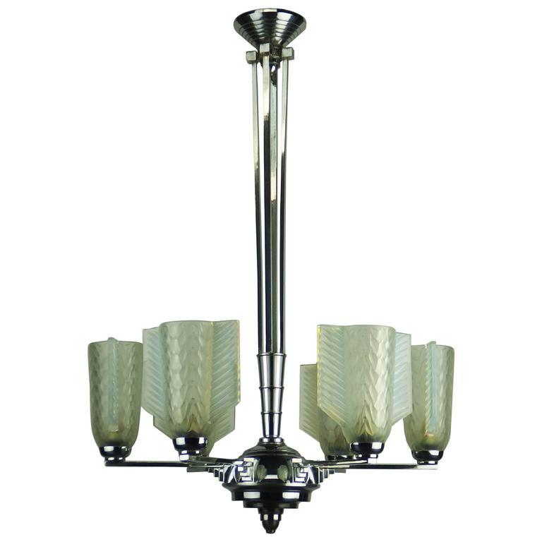 Art Deco Chandelier By Du0027Avesn