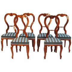 Set of Biedermeier Chairs, Six Pieces