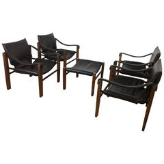 Arkana Four Safari Chairs and Stool