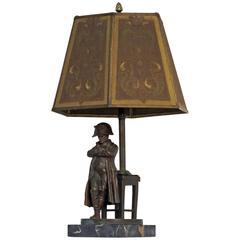 Napoleon Bronze Statue Lamp Signed Schmidt-Felling