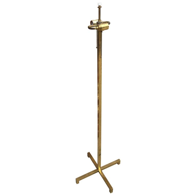 Brass T. H. Robsjohn-Gibbings Floor Lamp for Hansen