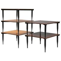 "Set of Five ""T8"" Stackable Tables by Vico Magistretti for Azucena"