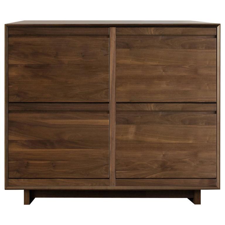 Modern Double LP Storage Cabinet