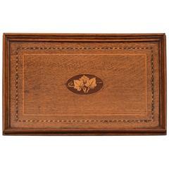 20th Century Edwardian Inlaid Oak Tray, circa 1905