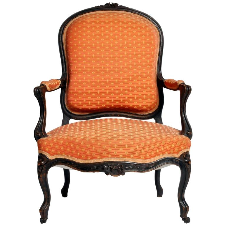 Louis xv style fauteuil with cabriole legs for sale at 1stdibs - Fauteuil style louis xv ...