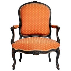 Louis XV Style Fauteuil with Cabriole Legs
