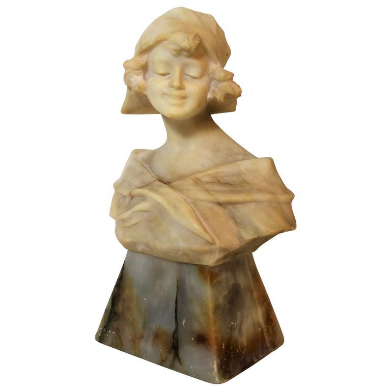 Art Nouveau Woman Sculpture or Bust