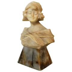 Art Nouveau Woman Sculpture or Bust