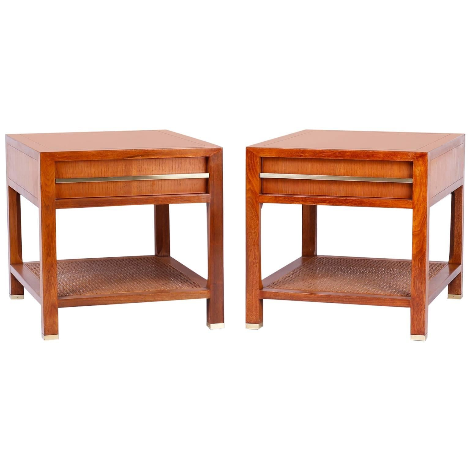 Pair of End or Side Tables Michael Taylor for Baker