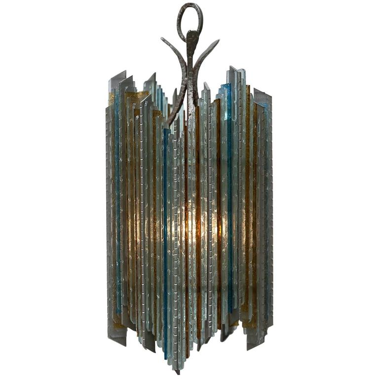 Brutalist Poliarte style Pendant Lamp For Sale