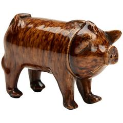 Rye Pottery Sussex Pig Drinking Vessel, circa 1870