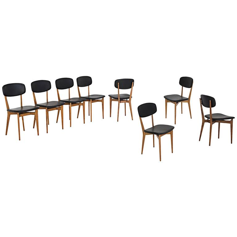 """Ico Parisi, Set of Eight Chairs Model """"651"""", Italy, 1950 1"""