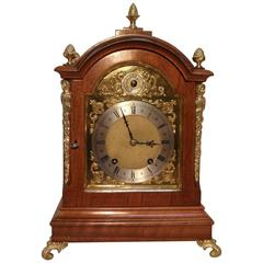 German 19th Century Walnut Bracket Clock by W&H