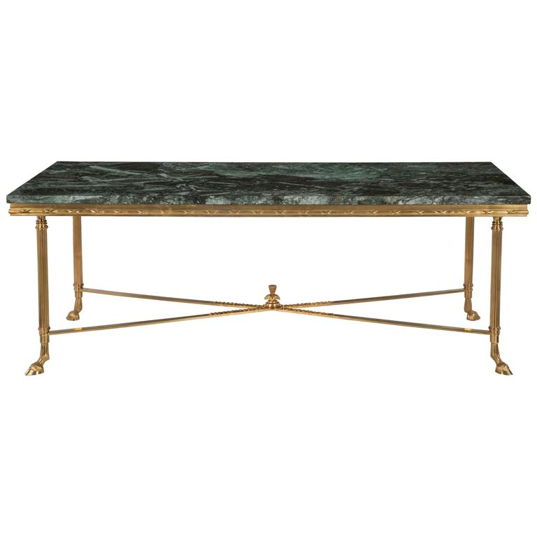 Louis Xvi Marble Coffee Table: French Turn Of The Century Louis XVI St. Ormolu And Marble