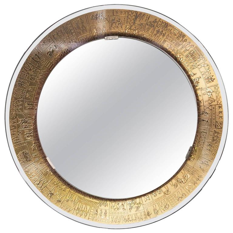 Furgieri Gold-Plated Mirror from Italy, 1960s 1