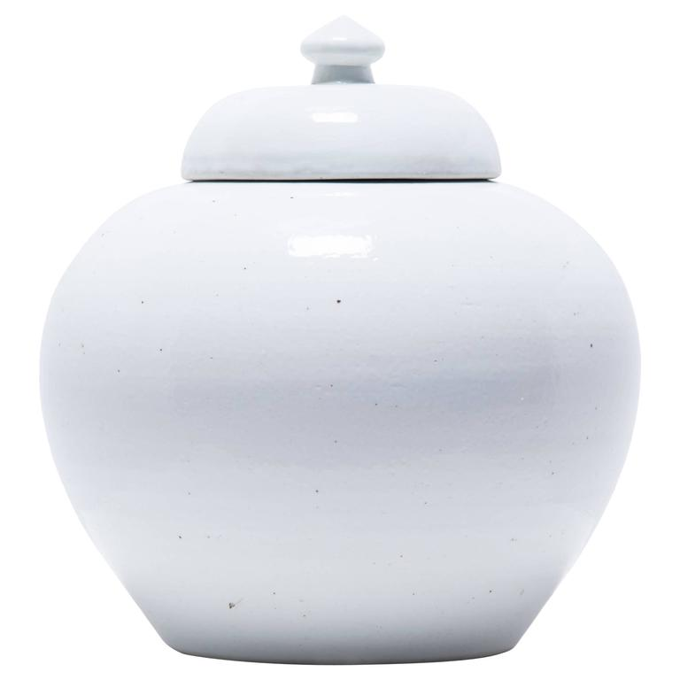Chinese Tapered Cloud Onion Jar with Lid