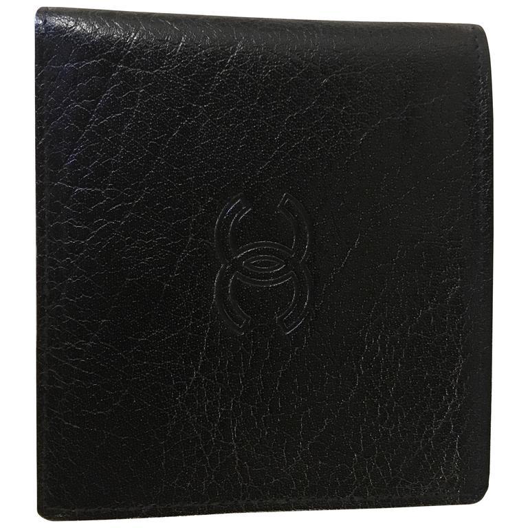 vintage brand new chanel mens wallet billfold in its