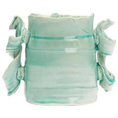 Colin Pearson British Studio Pottery Turquoise Vessel