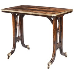 English Regency Period Coromandel and Brass Table Attributed to Gillow