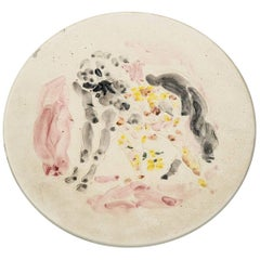 Marcel Vertès Beautiful Ceramic Dish to the Horse, circa 1950