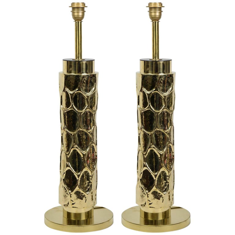 Beautiful Pair of Brass Table Lamps 1