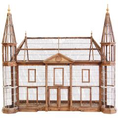 Very Large Continental Bird Cage in the Form of a Manor House
