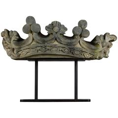 Early 19th Century Carved Limestone Crown Fragment