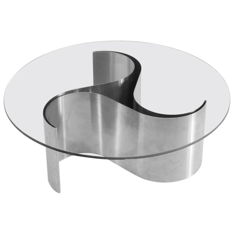 Patrice Maffei 39 Comete 39 Coffee Table In Glass And Steel