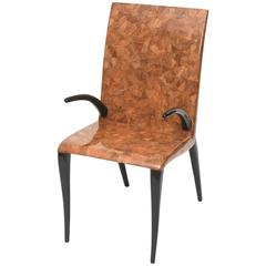 Rare R & Y Augousti Coconut, Tobacco and Ebony Armchair or Deskchair