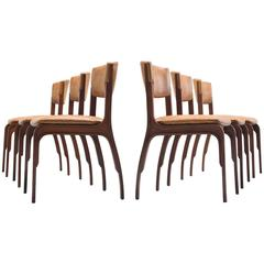 Six Dining Chairs by Gianfranco Frattini for Cantieri Carugati