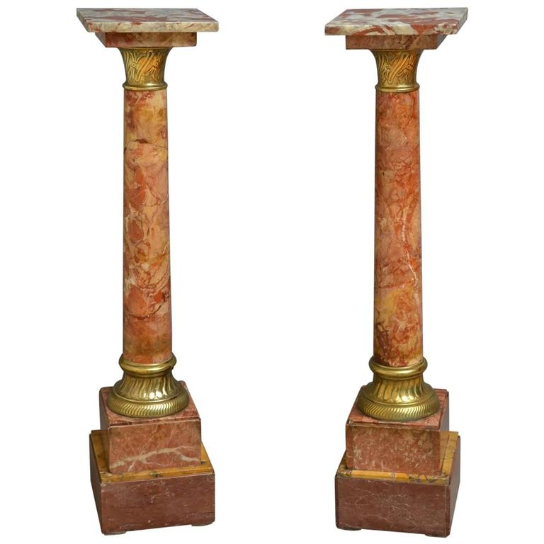 Victorian pair of marble columns for sale at 1stdibs Victorian columns