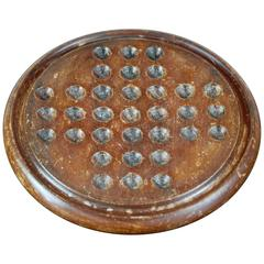 Late 19th Century Solitaire Games Board
