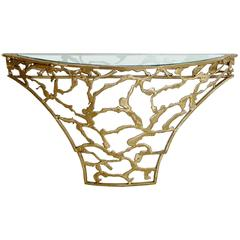 Silas Seandel Bronze Reversible Demilune Console Table
