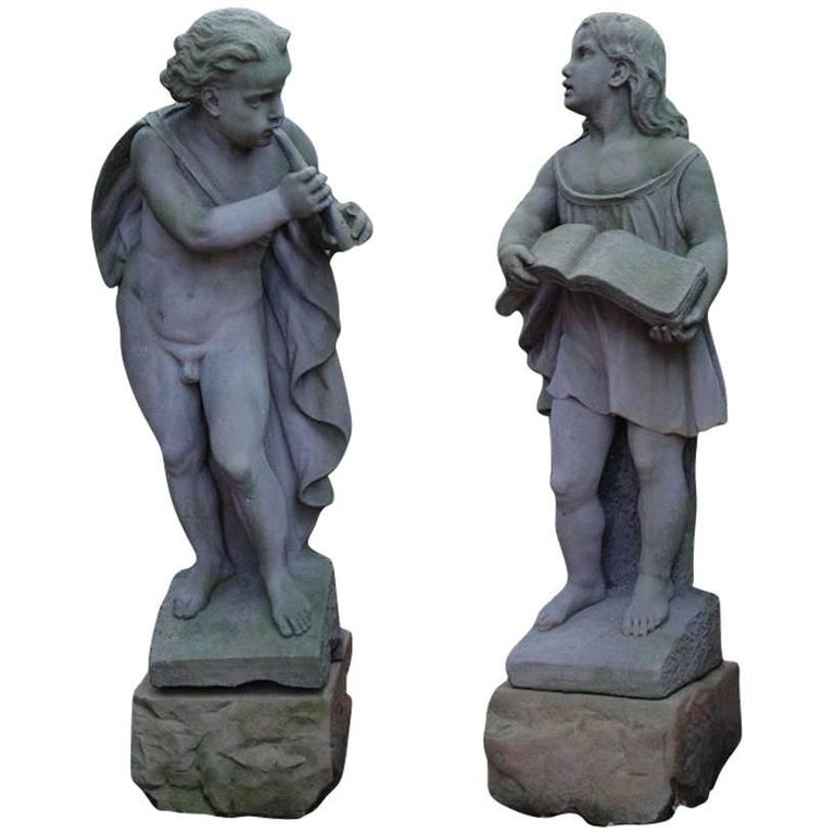 English Carved Stone Figures of Music and Song
