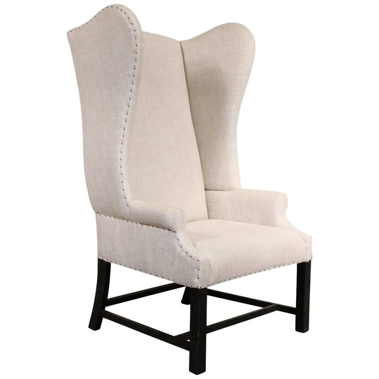 Ralph Lauren High Back Wing Chair At 1stdibs