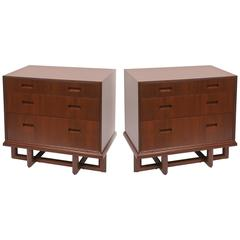 Rare Pair of Frank Lloyd Wright Mahogany Chests, Taliesin Collection