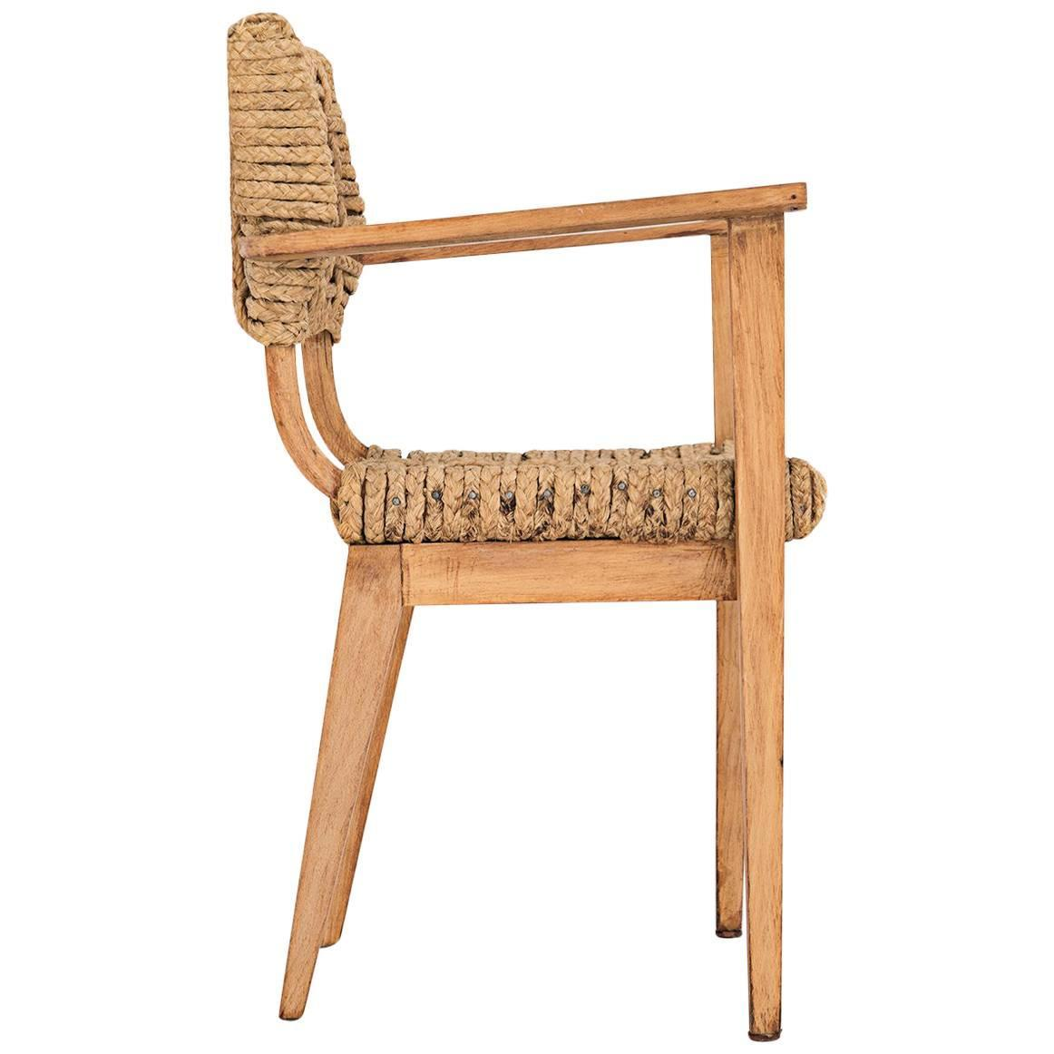 Price reduced sturdy wooden vintage rocking chair made in yugoslavia - Adrian Amp Frida Audoux Minet Dining Chair France