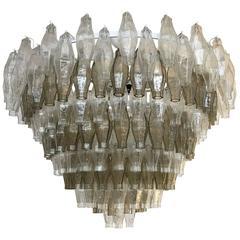 Murano Mid-Century Modern style Poliedri Glass Chandelier