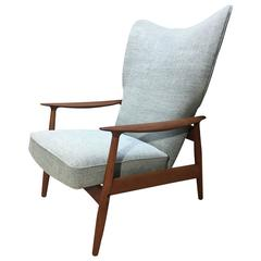 Danish Adjustable Lounge Chair by K. Rasmussen for Peter Wessel