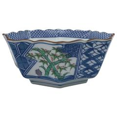 1980s Tiffany & Co. Blue and White Chinoiserie Bowl