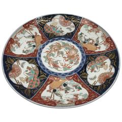 19th Century Imari Polychrome Charger Plate