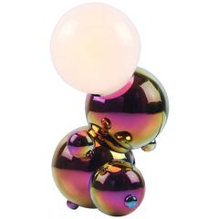 Bubbly 01-SM Table, Sculptural Molecule Lamp in Rainbow Finish