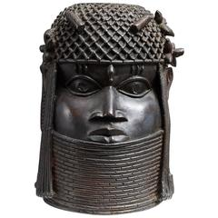 Benin Bronze Memorial Head from The Nelson Rockefeller Collection 1978