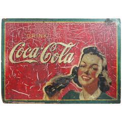1941 Masonite Coca-Cola Advertising Sign