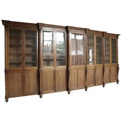 Very Fine Double Break Front Bookcase in Pale Mahogany