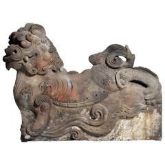 Chinese Rooftop Finial in the Form of a Foo Dog